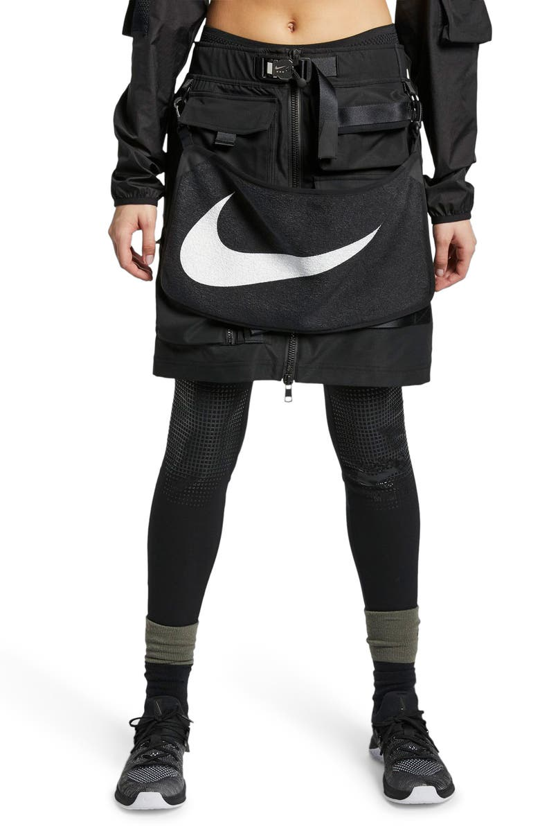 NIKE x MMW Beryllium 2-in-1 Skirt, Main, color, BLACK