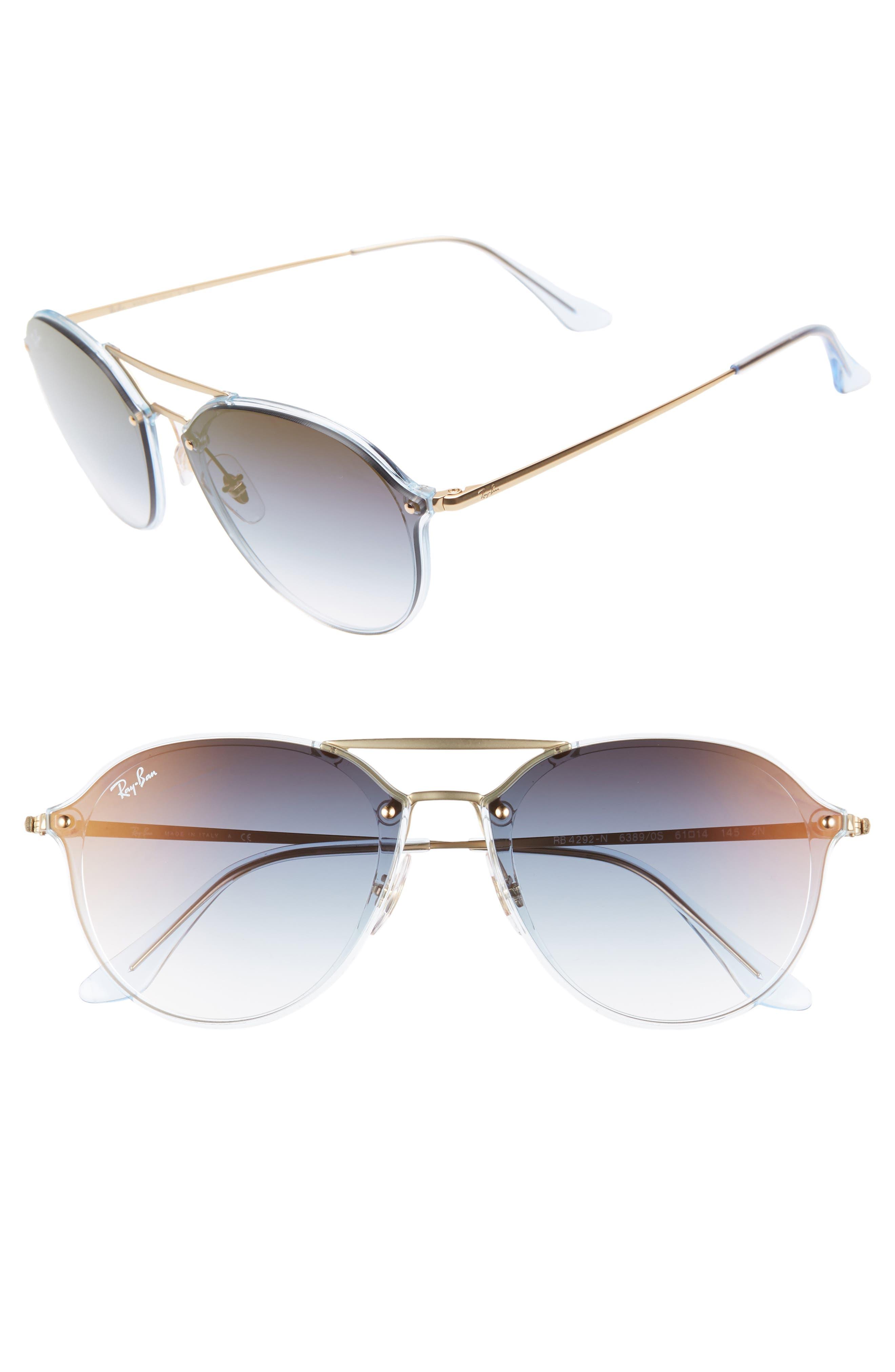 Ray-Ban 61Mm Gradient Aviator Sunglasses - Gold/ Grey Gradient