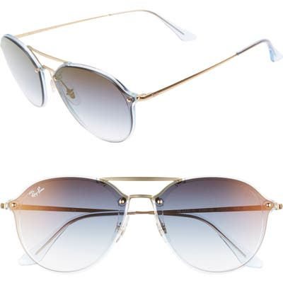 Ray-Ban 61Mm Gradient Aviator Sunglasses - Gold/ Grey Gradient