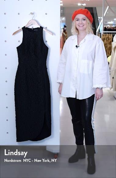 Asymmetrical Leopard Jacquard Dress, sales video thumbnail