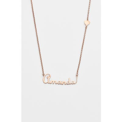 Argento Vivo Personalized Script Name With Heart Necklace (Nordstrom Online Exclusive)