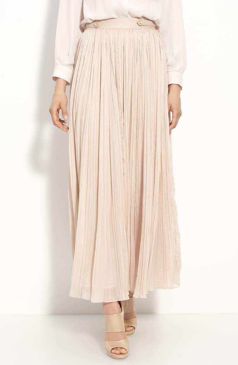 MCGINN 'Emma' Pleated Maxi Skirt, Main, color, 680