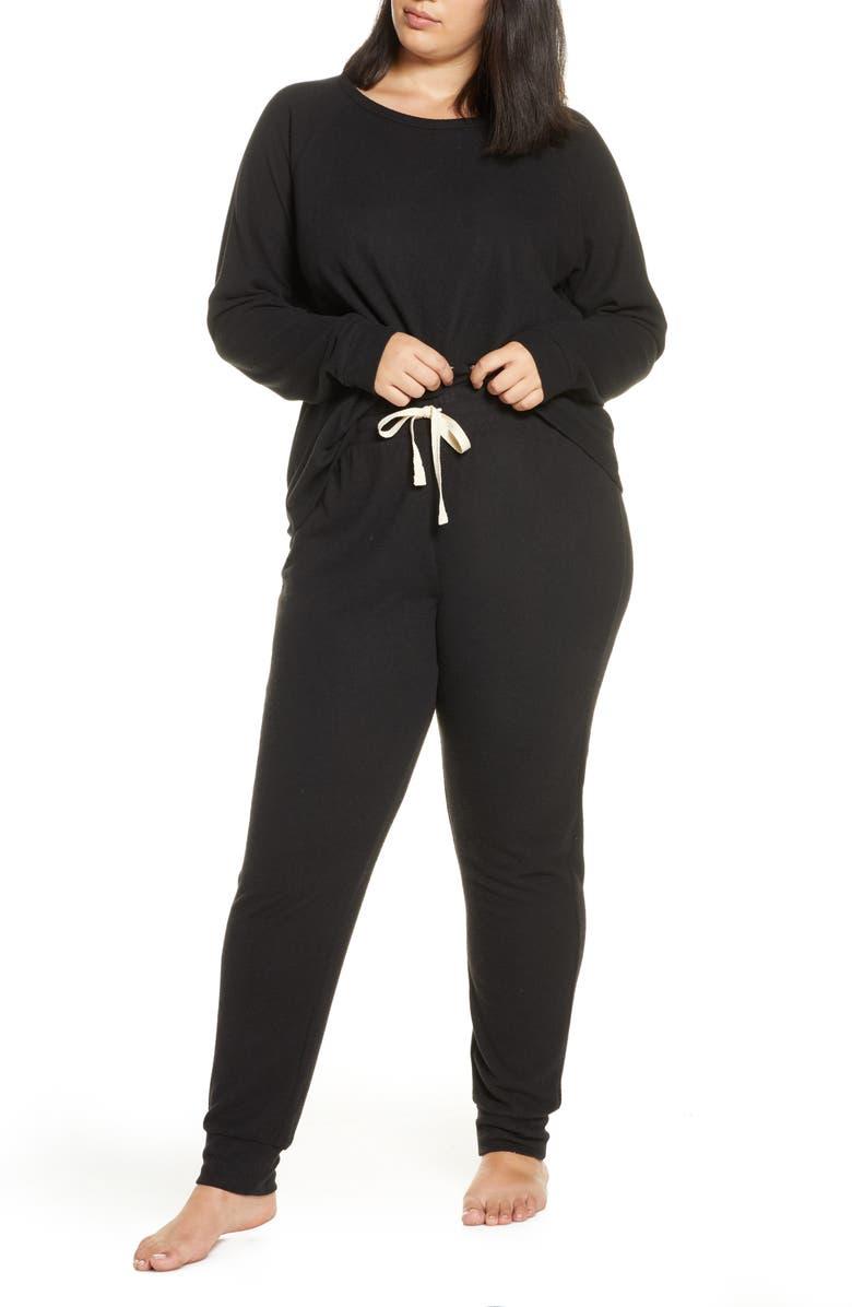 BP. Soft & Cozy Sleepy Pajamas, Main, color, BLACK