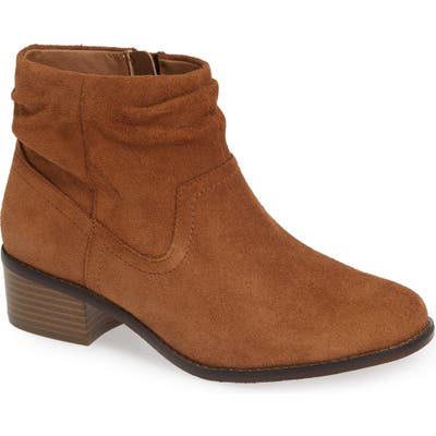 Vionic Kanela Low Slouchy Bootie- Brown