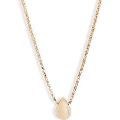 Halogen Molten Teardrop Pendant Necklace
