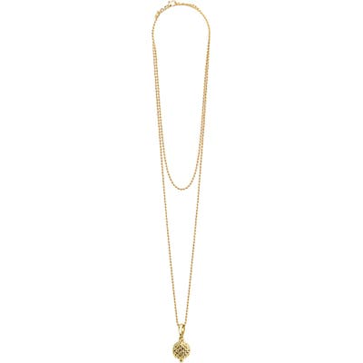 Lagos Caviar Gold Ball Pendant Necklace