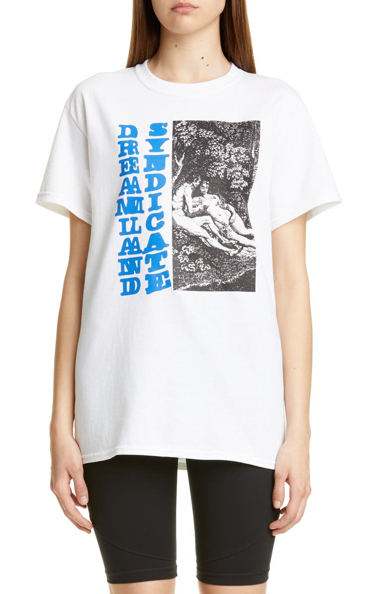 DREAMLAND SYNDICATE Forest Graphic Tee, Main, color, WHITE