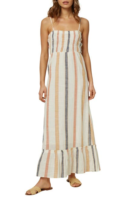 Image of O'Neill Lane Striped Sleeveless Maxi Dress