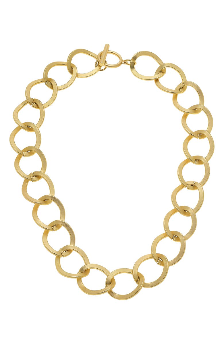 CANVAS JEWELRY Linnea Statement Chain Necklace, Main, color, GOLD