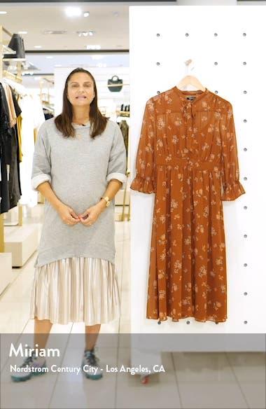 Forest Floral Tie Neck Georgette Midi Dress, sales video thumbnail