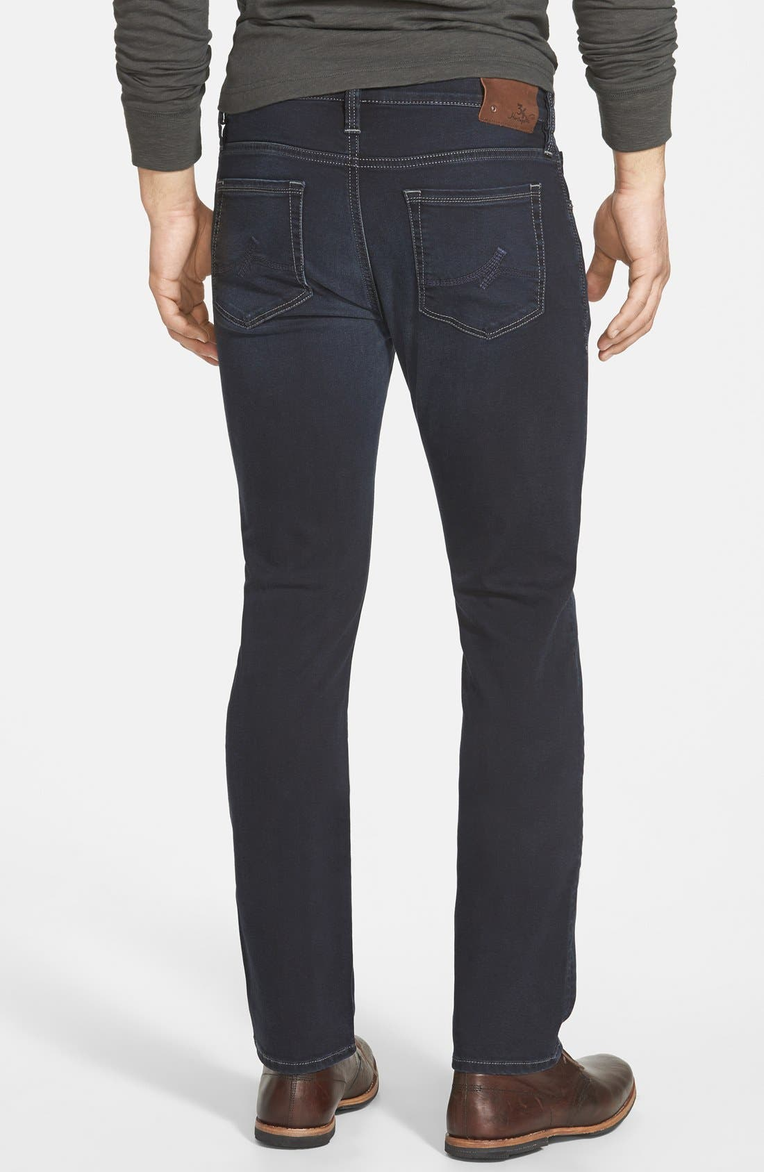 ,                             Courage Straight Leg Jeans,                             Alternate thumbnail 5, color,                             MIDNIGHT AUSTIN