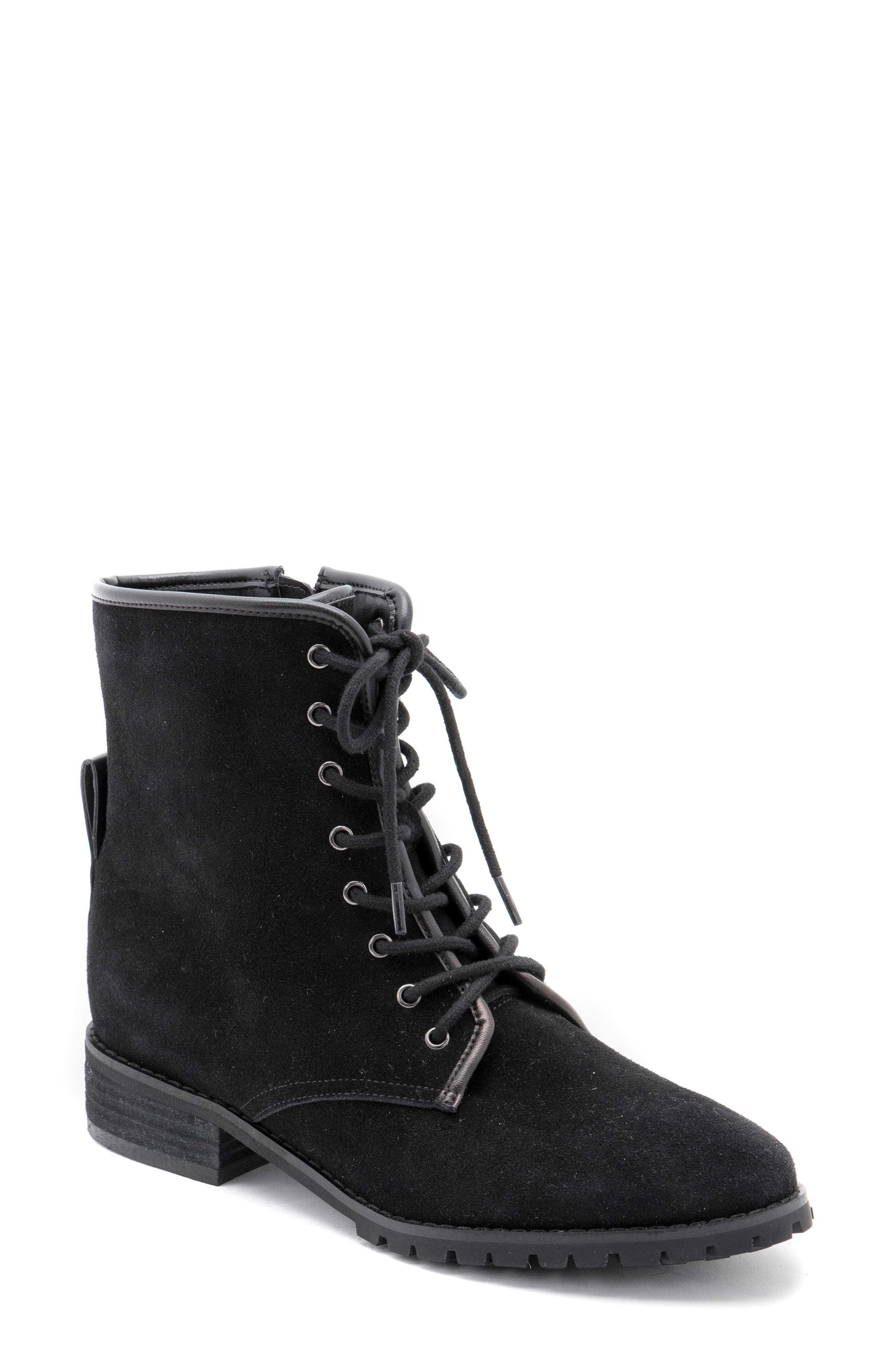 Image of Blondo Prima Suede Waterproof Lace-Up Boot