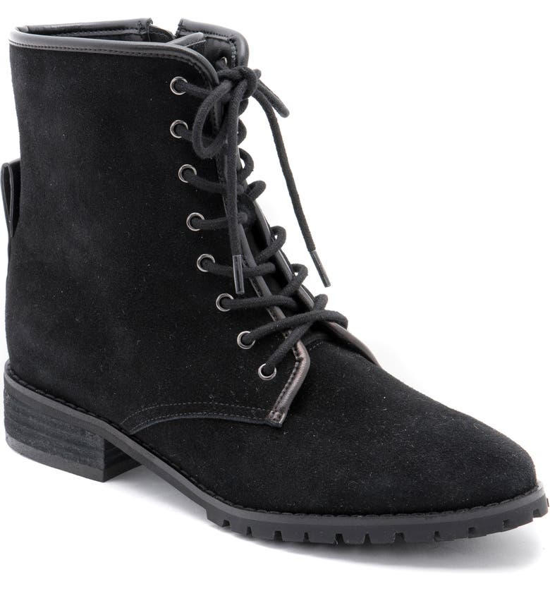 BLONDO Prima Waterproof Lace-Up Boot, Main, color, BLACK SUEDE