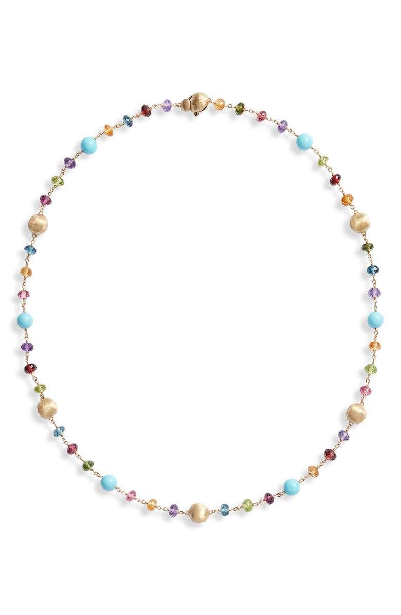 MARCO BICEGO Africa Semiprecious Stone Collar Necklace, Main, color, YELLOW GOLD/ MULTI