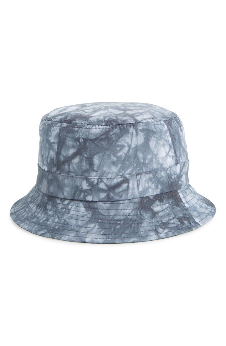 TROUVÉ Tie Dye Bucket Hat, Main, color, 001