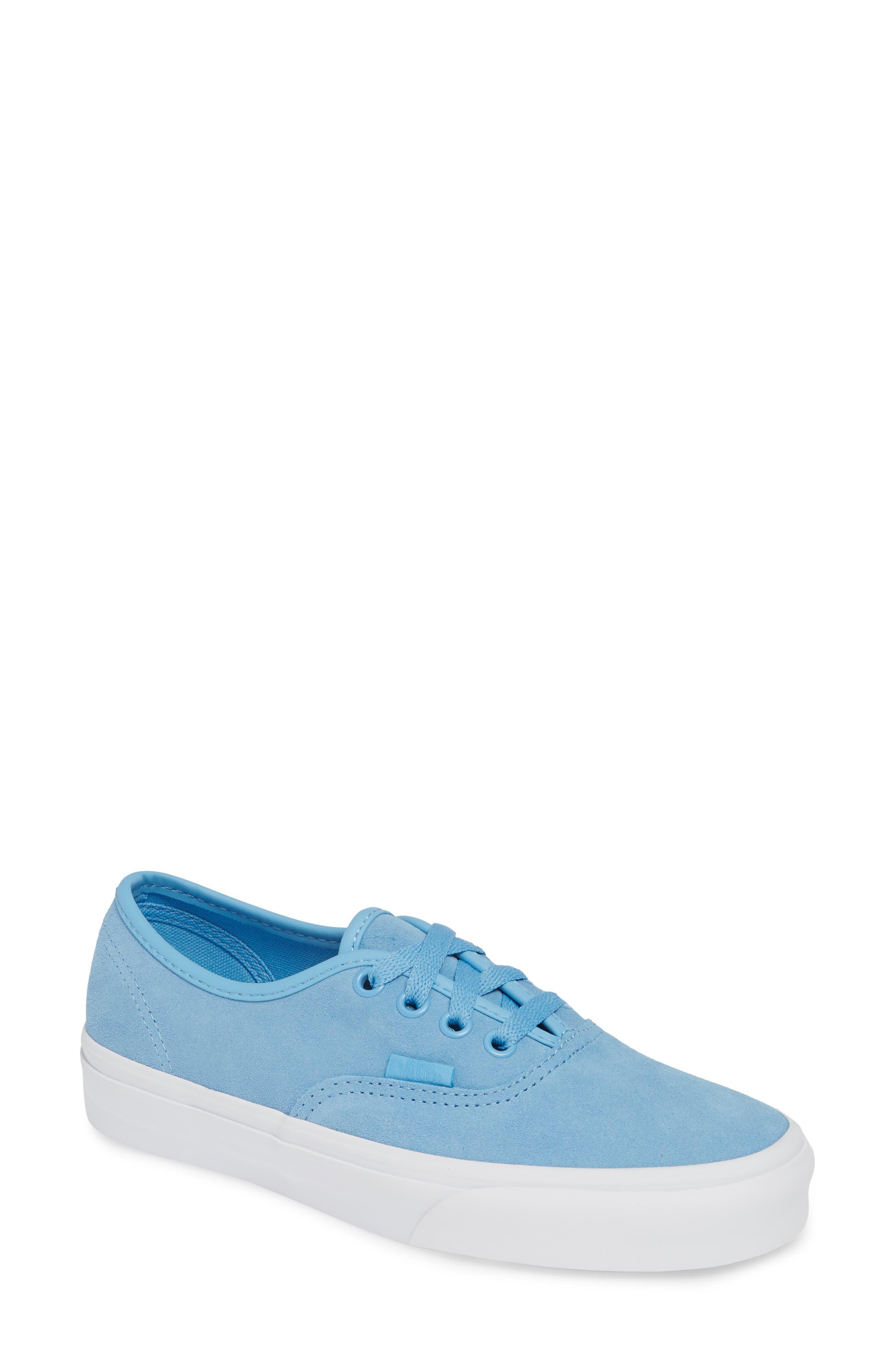 Authentic Soft Suede Sneaker, Main, color, ALASKAN BLUE/ TRUE WHITE