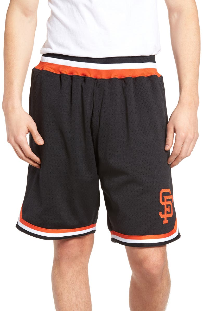 info for b2351 d1496 Mitchell & Ness Playoff Win San Francisco Giants Mesh Warm ...