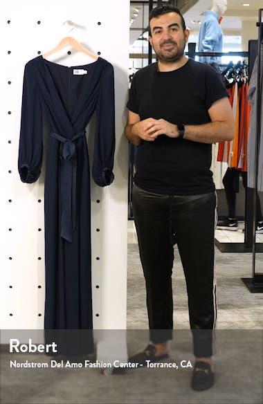 Long Sleeve Wide Leg Jumpsuit, sales video thumbnail