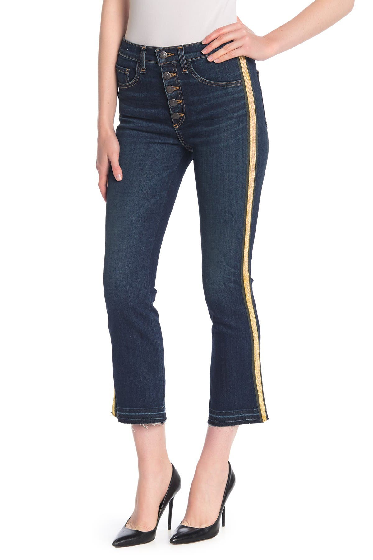 Image of VERONICA BEARD Carolyn Baby Boot Side Stripe Jeans