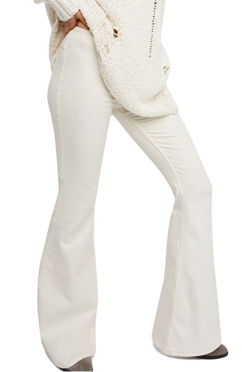 FREE PEOPLE Penny Pull-On Flare Pants, Main, color, IVORY