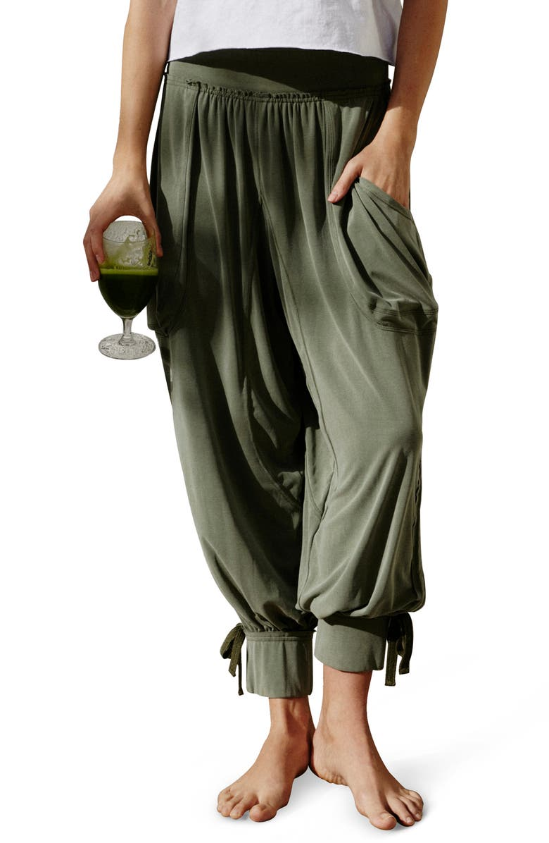 FREE PEOPLE FP MOVEMENT Silver Lining Pants, Main, color, CARGO KHAKI