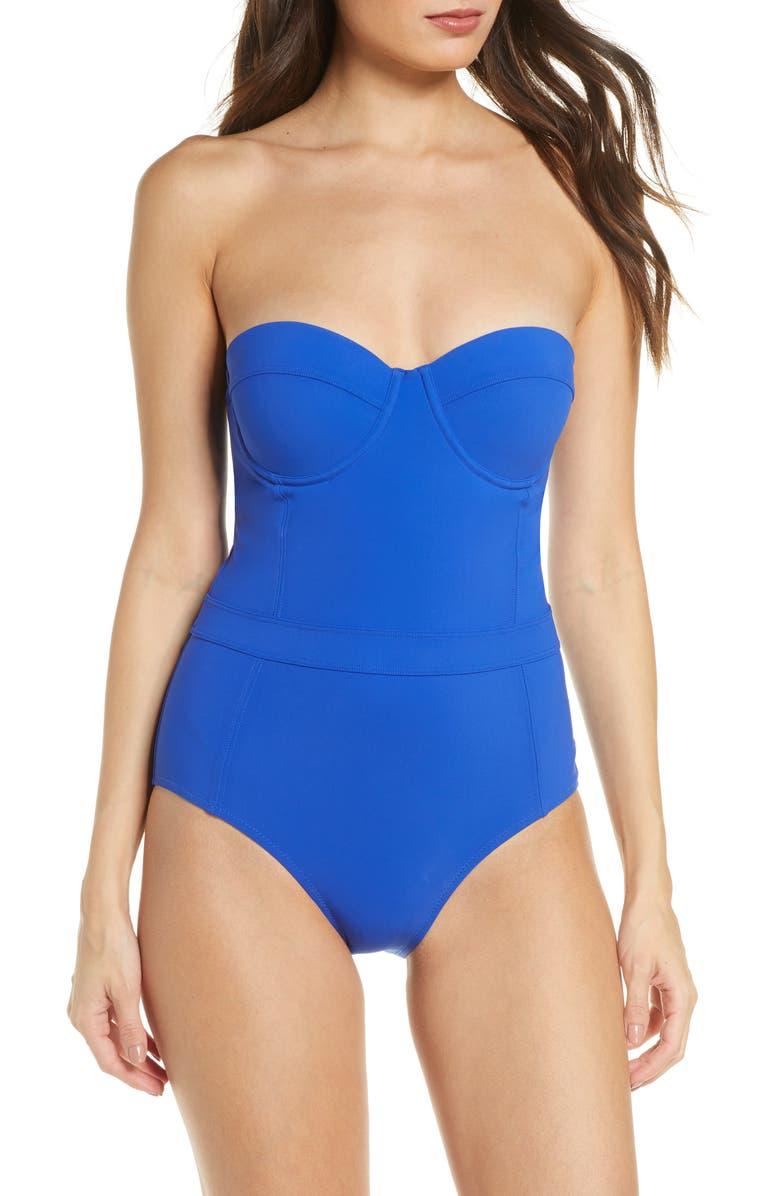 TORY BURCH Lipsi Colorblock Underwire One-Piece Swimsuit, Main, color, 479