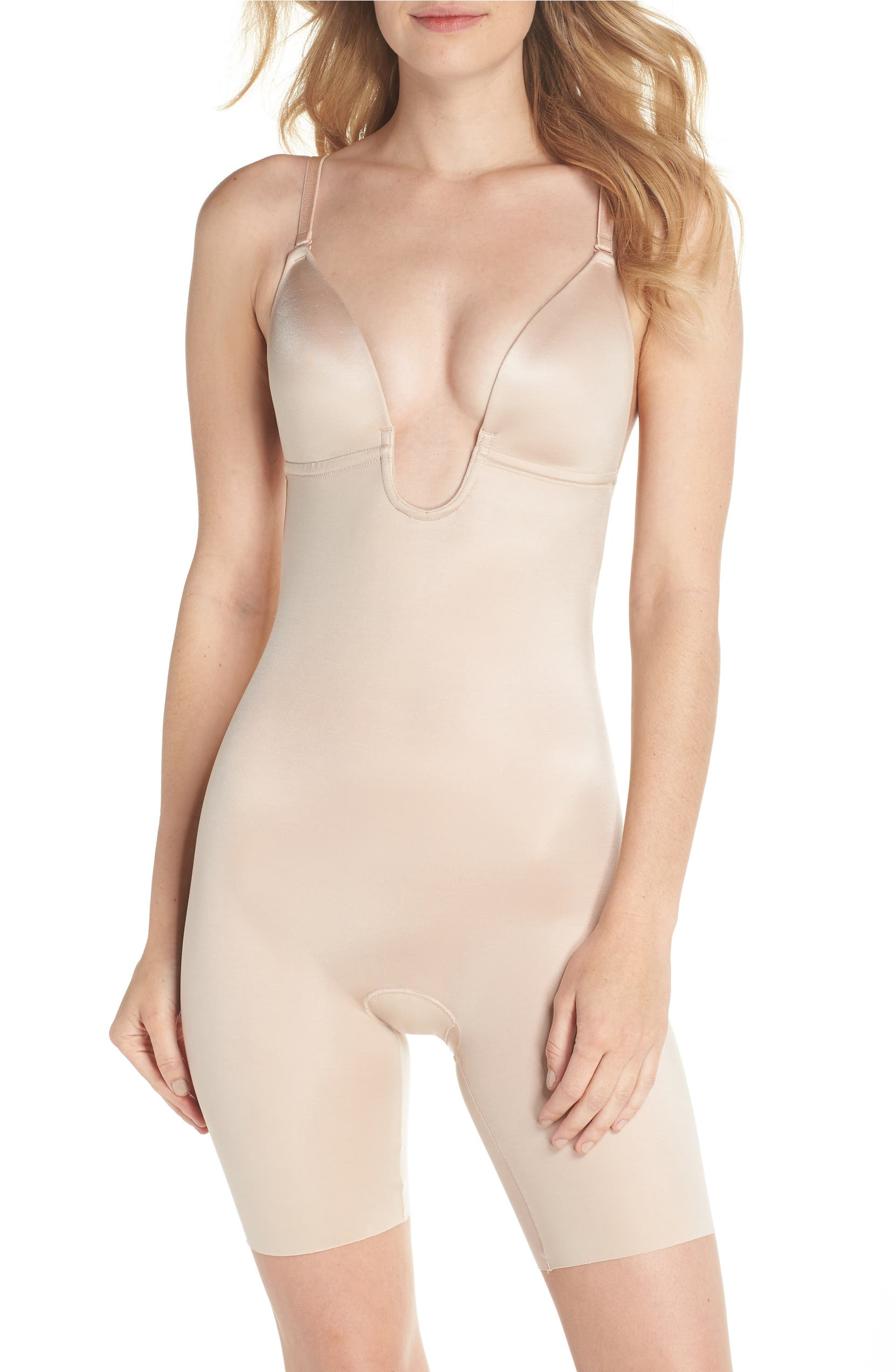 a3f6e381770 SPANX® Suit Your Fancy Plunge Low-Back Mid-Thigh Bodysuit