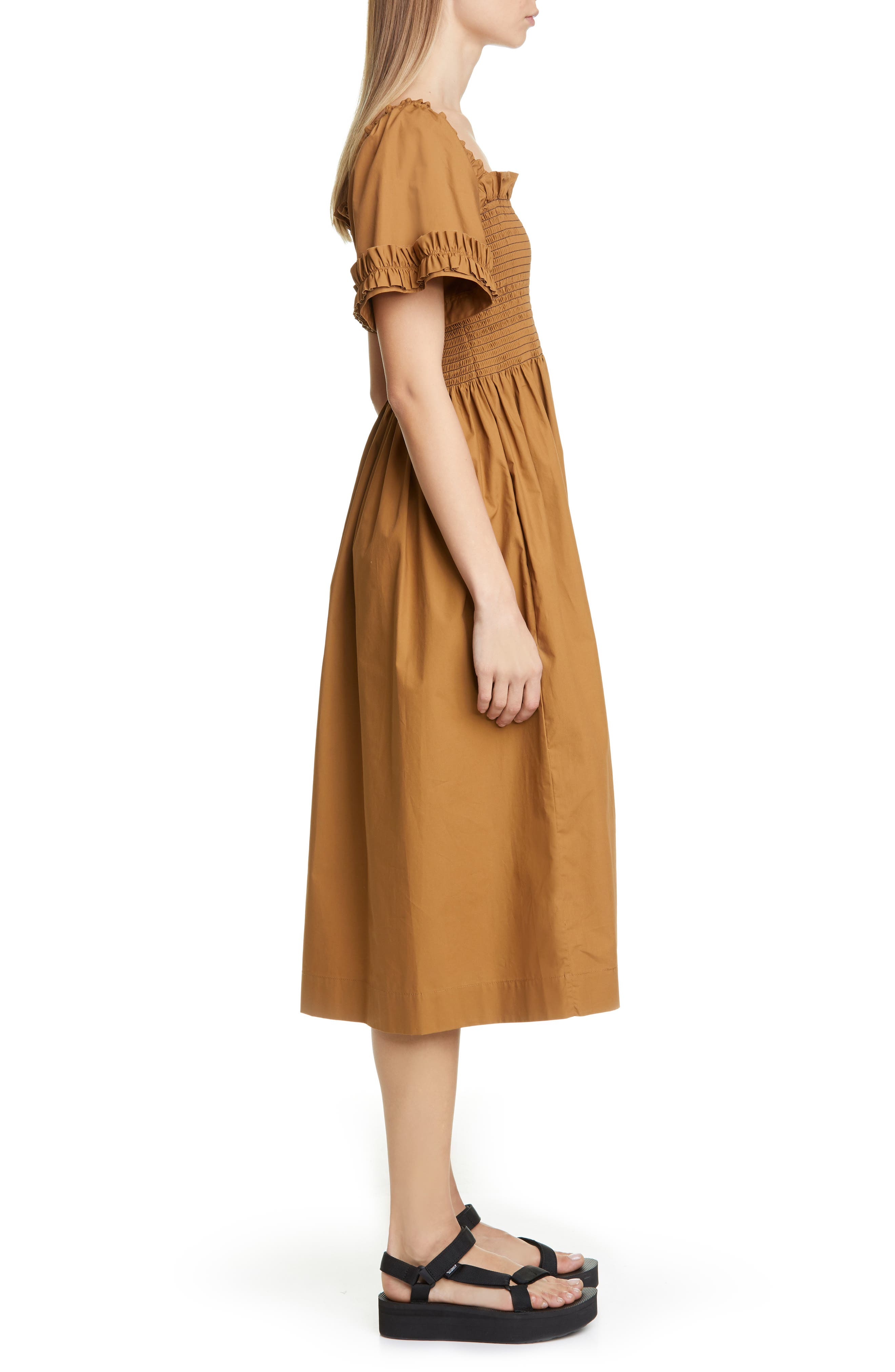 ,                             Adelaide Dress,                             Alternate thumbnail 3, color,                             BROWN