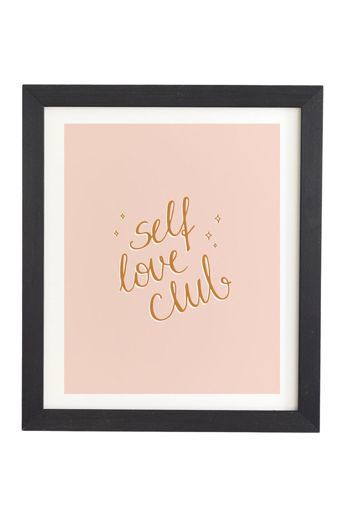 Image of Deny Designs Barlena Self Love Club Black Framed Art