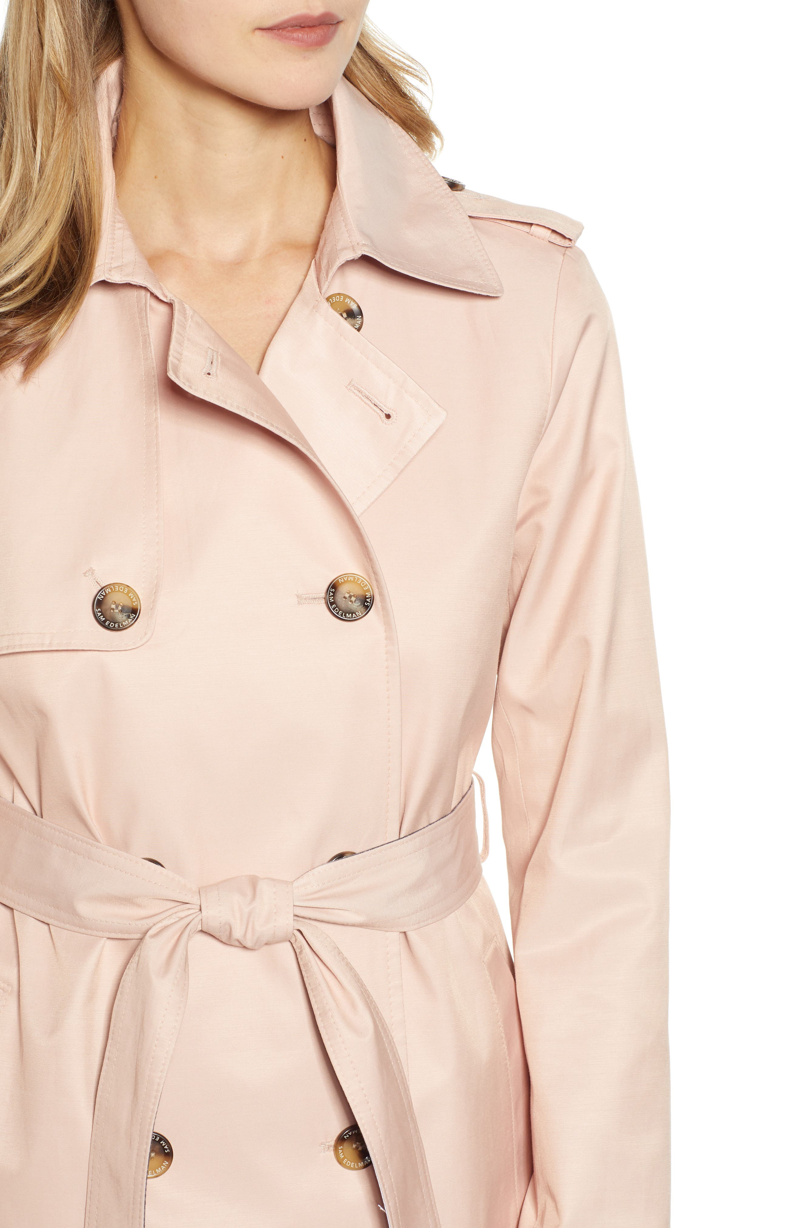 ,                             Water Resistant Trench Coat,                             Alternate thumbnail 5, color,                             BLUSH