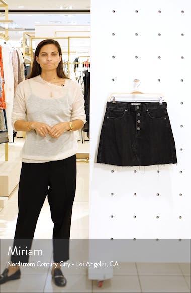 Button Front Denim A-Line Miniskirt, sales video thumbnail