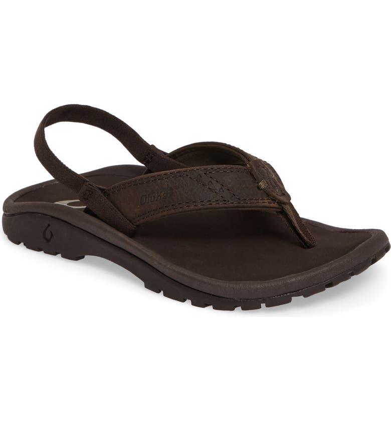 OLUKAI Nui Leather Sandal, Main, color, 219