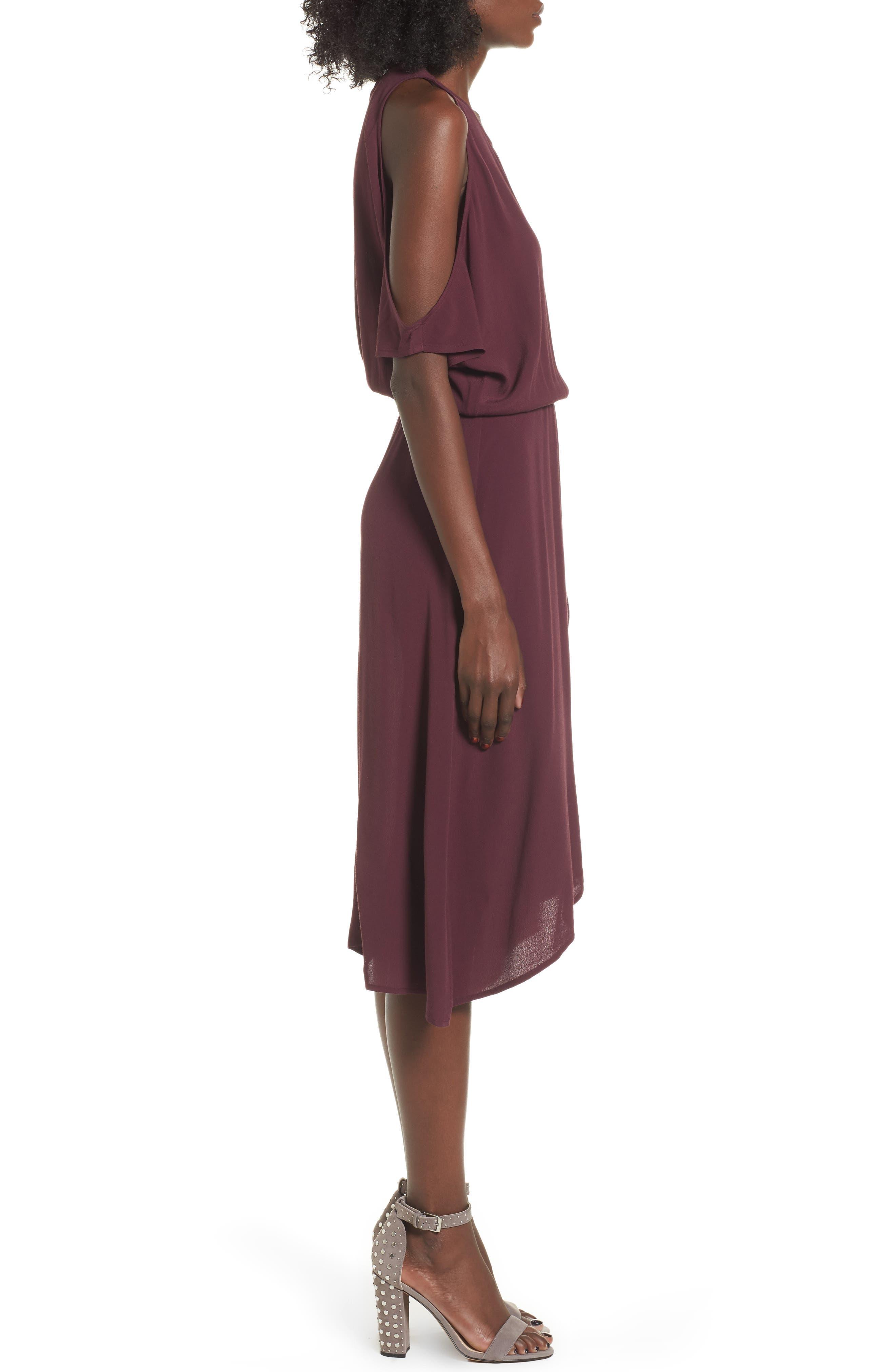 ,                             Cold Shoulder Midi Dress,                             Alternate thumbnail 16, color,                             930