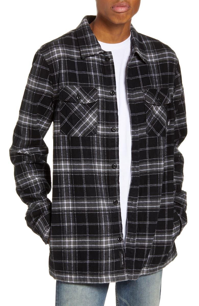 VANS Tradewinds Plaid Cotton Shirt Jacket, Main, color, 001