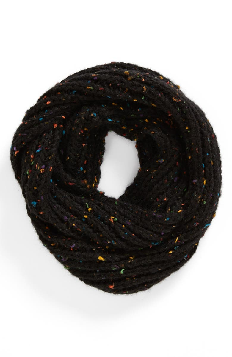 DAVID & YOUNG Speckled Infinity Scarf, Main, color, 001