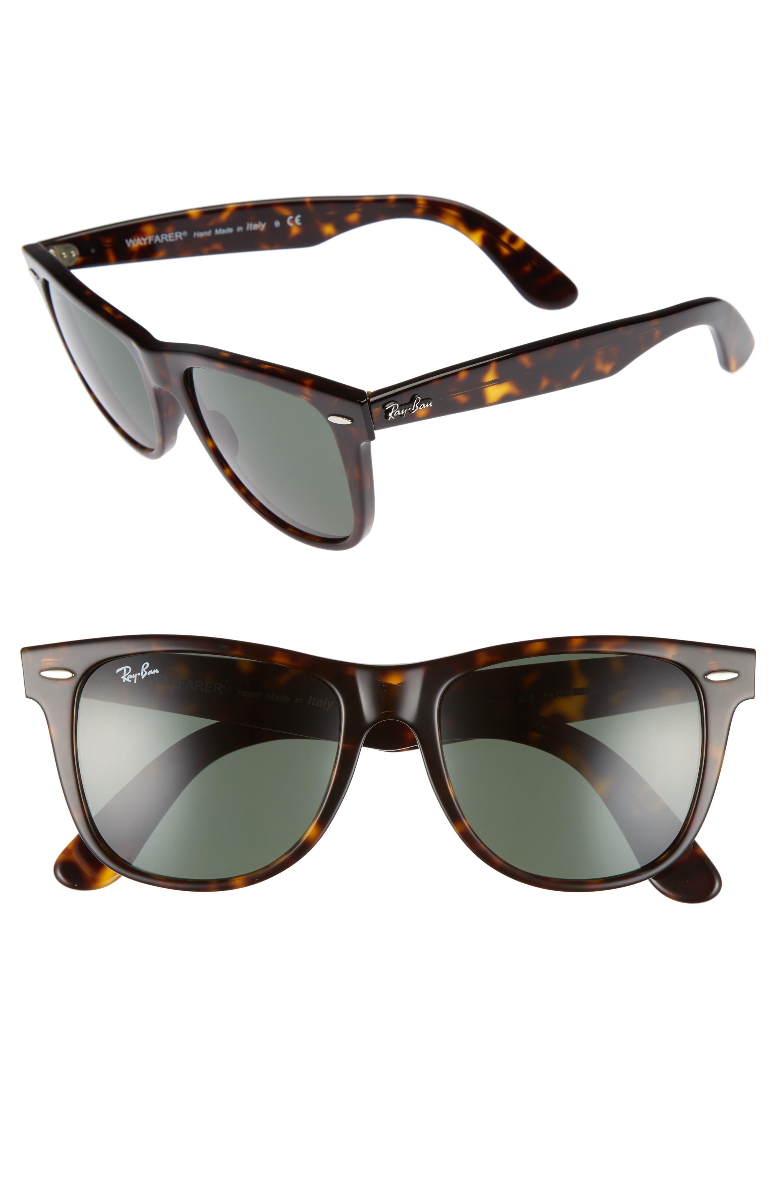 ,                             Large Classic Wayfarer 54mm Sunglasses,                             Alternate thumbnail 4, color,                             200