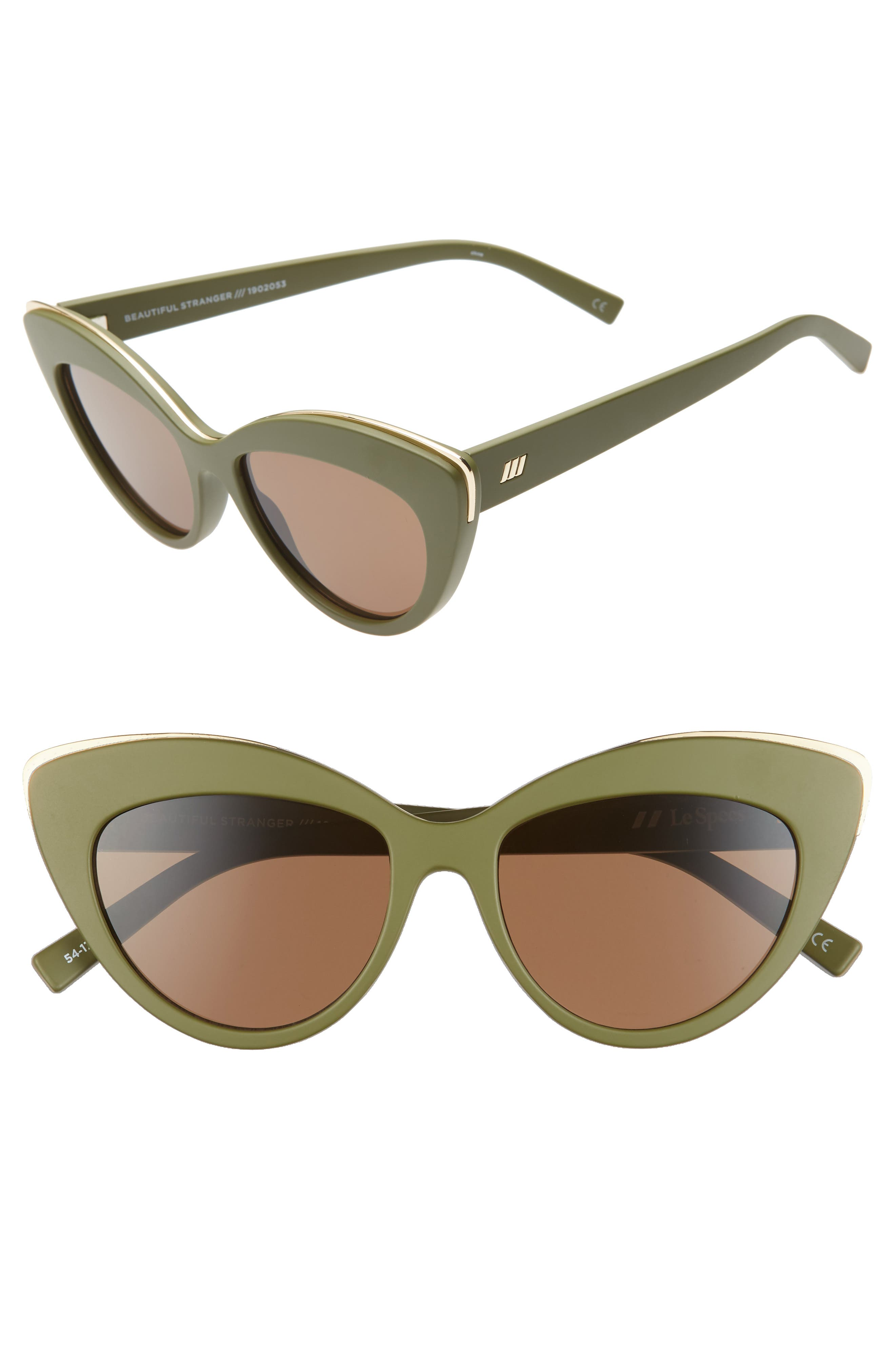 Le Specs Beautiful Stranger 5m Polarized Cat Eye Sunglasses - Matte Khaki