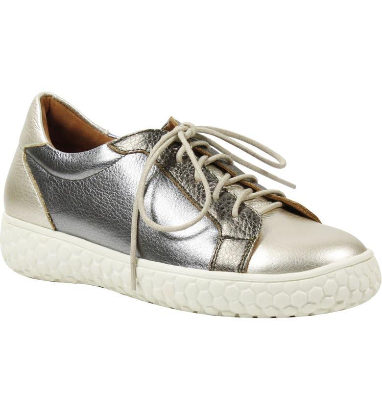 L'AMOUR DES PIEDS Zoyya Sneaker, Main, color, METALLIC MULTICOLOR LEATHER