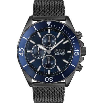 Boss Ocean Edition Chronograph Mesh Strap Watch, 4m