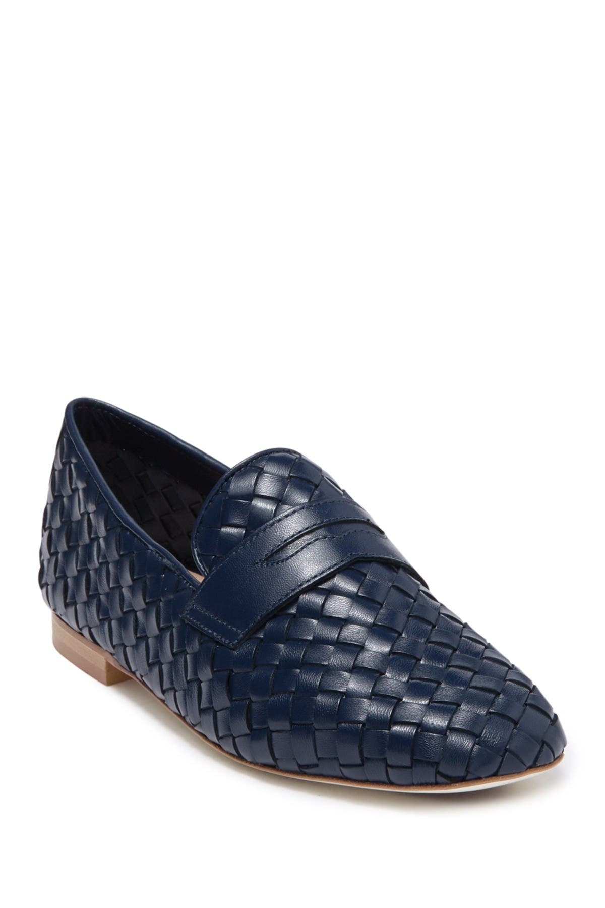 Image of RON WHITE Hand Woven Napa Leather Penny Slot Loafer