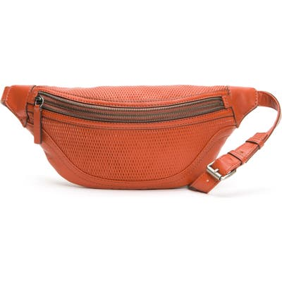 Frye Lena Perforated Leather Belt Bag - Orange