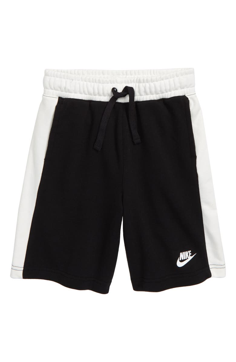 NIKE Air Athletic Shorts, Main, color, BLACK / SAIL