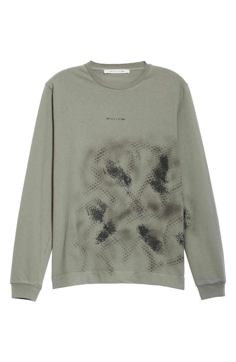 1017 ALYX 9SM Long Sleeve Graphic T-Shirt, Main, color, GREY
