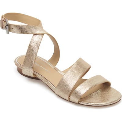 Etienne Aigner Orly Ankle Strap Sandal, Metallic