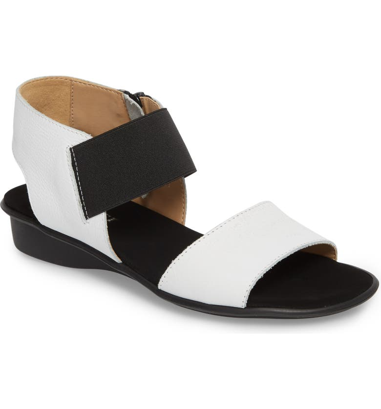 SESTO MEUCCI Eirlys Sandal, Main, color, WHITE FABRIC
