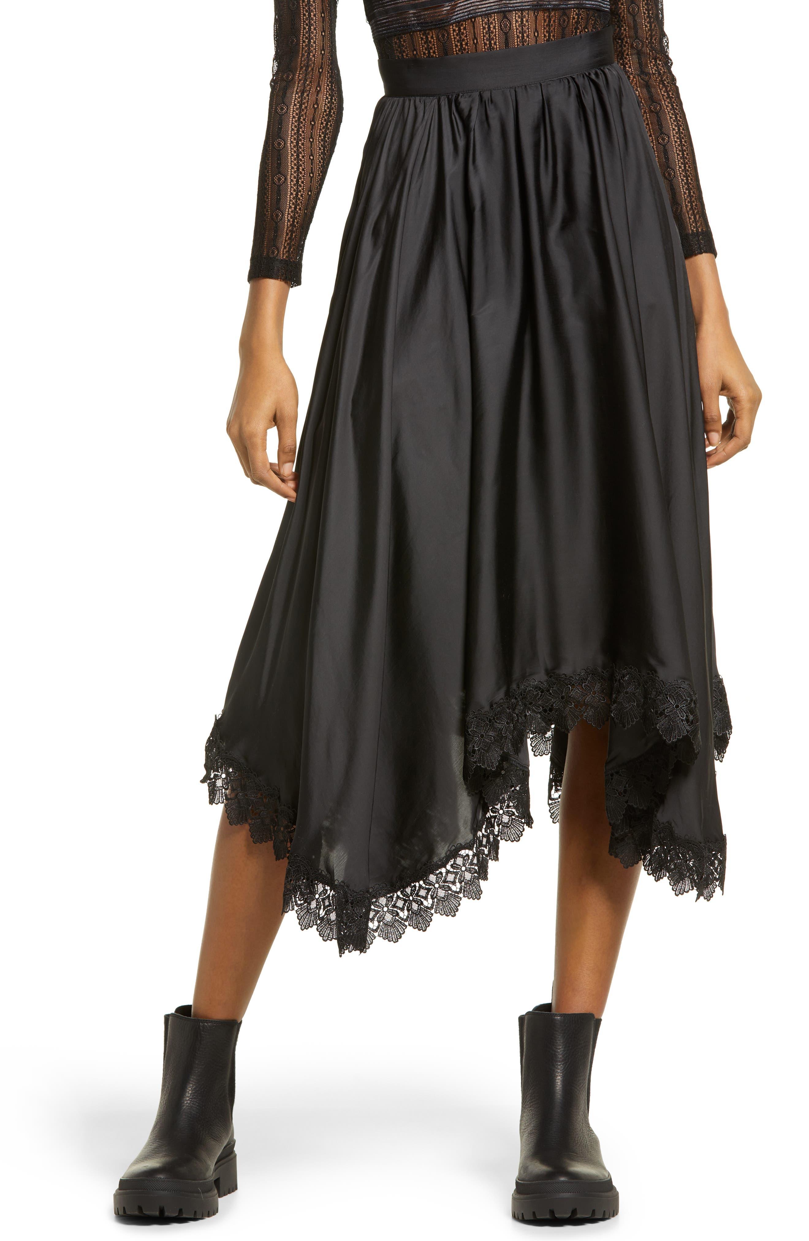 Dorset Lace Hem Skirt