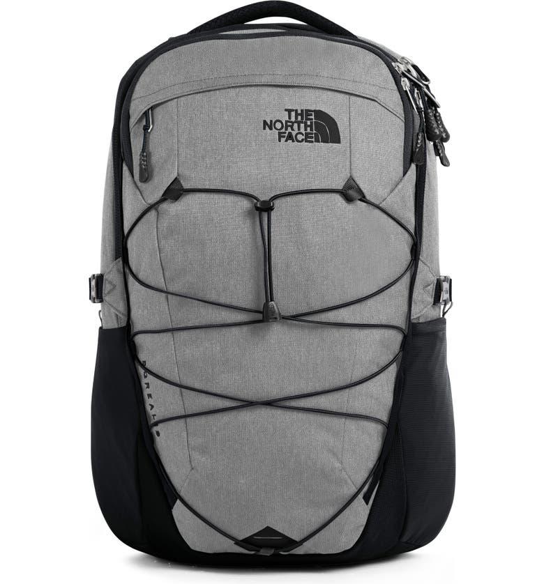 THE NORTH FACE Borealis Backpack, Main, color, ZINC GREY DARK HEATHER/TNF BLA