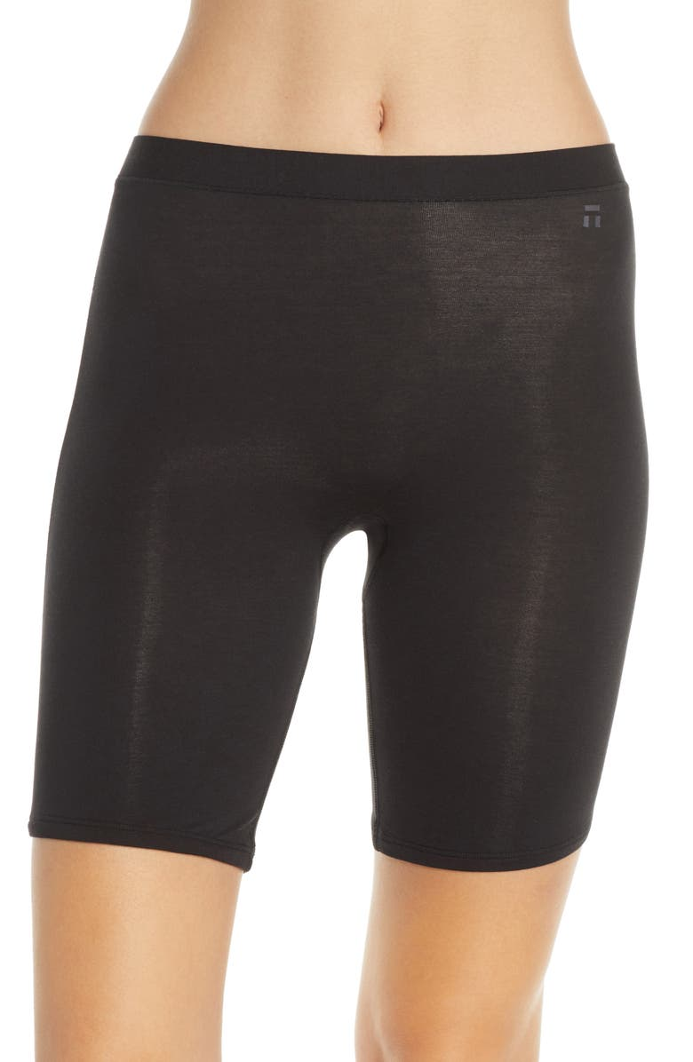 TOMMY JOHN Second Skin Above Knee Slip Shorts, Main, color, BLACK
