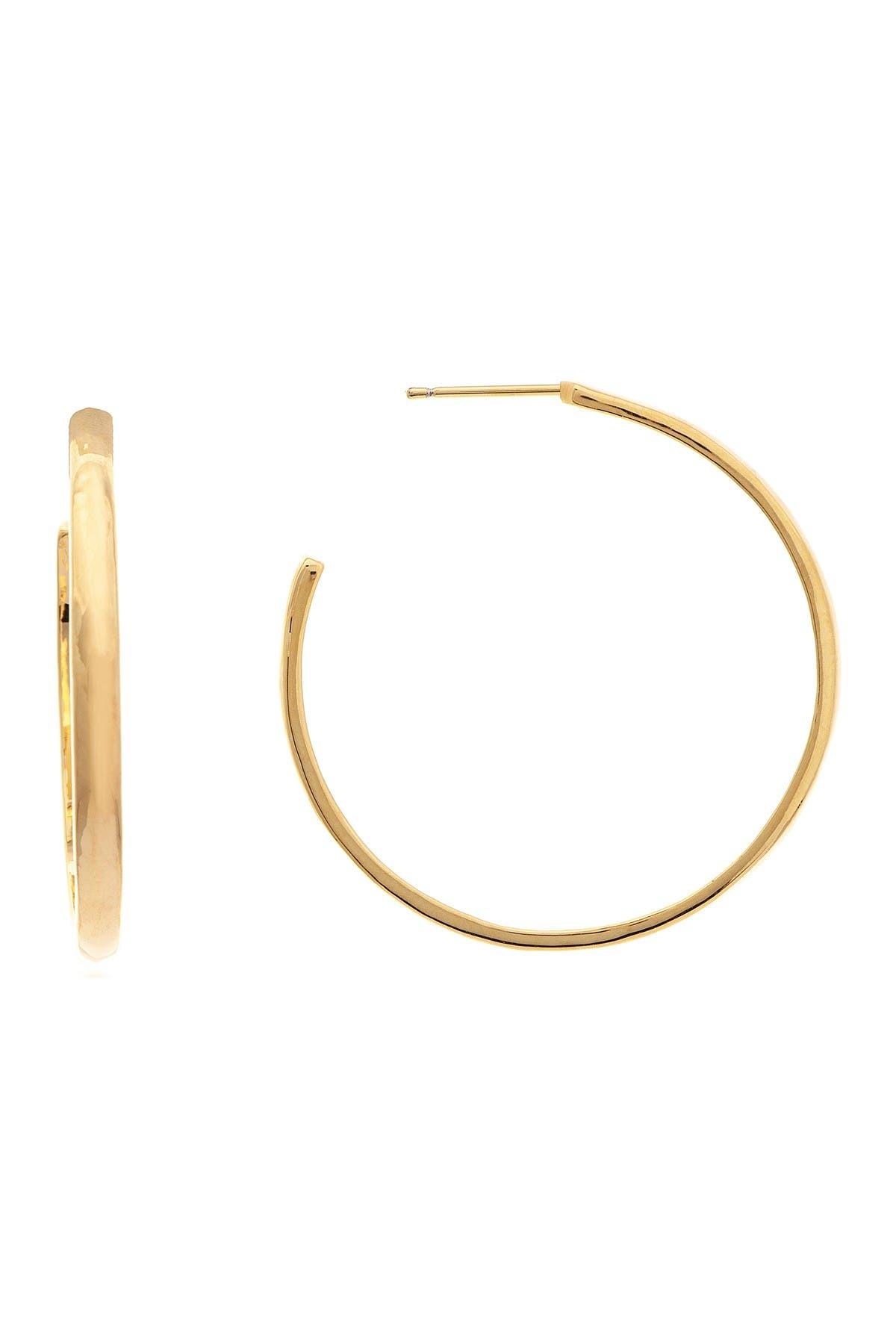 Image of Rivka Friedman 18K Gold Clad Hoop Earrings