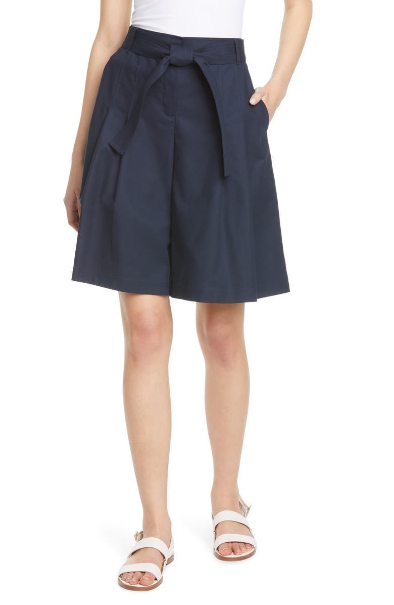 LAFAYETTE 148 NEW YORK Arthur Pleated Shorts, Main, color, INK
